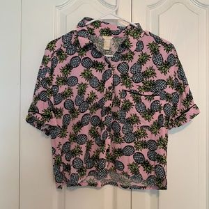 Forever 21 Cropped Button Down
